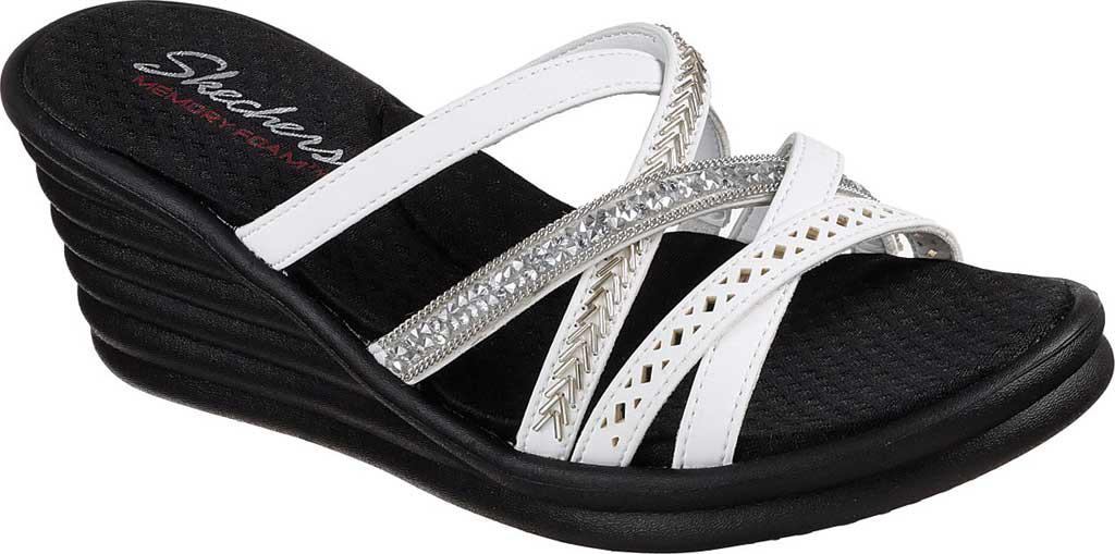 8a15393b4f875 Skechers - White Rumbler Wave - New Lassie (pewter) Women s Shoes - Lyst.  View fullscreen