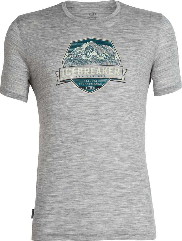 74f7cecd Icebreaker - Gray Tech Lite Cook Crest Short Sleeve Crewe Tee for Men - Lyst.  View fullscreen