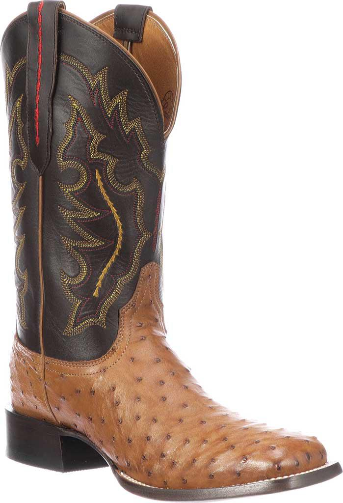 Lucchese Bootmaker. Men's Brown M1613.twf Square Toe Fowler Heel Boot