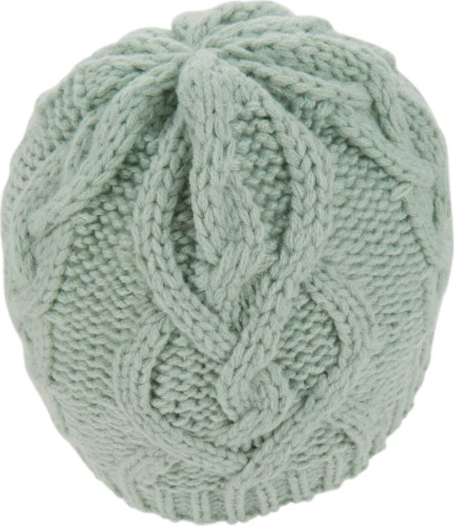 20684ef9c22 Keds - Green Large Cable Knit Beanie - Lyst. View fullscreen