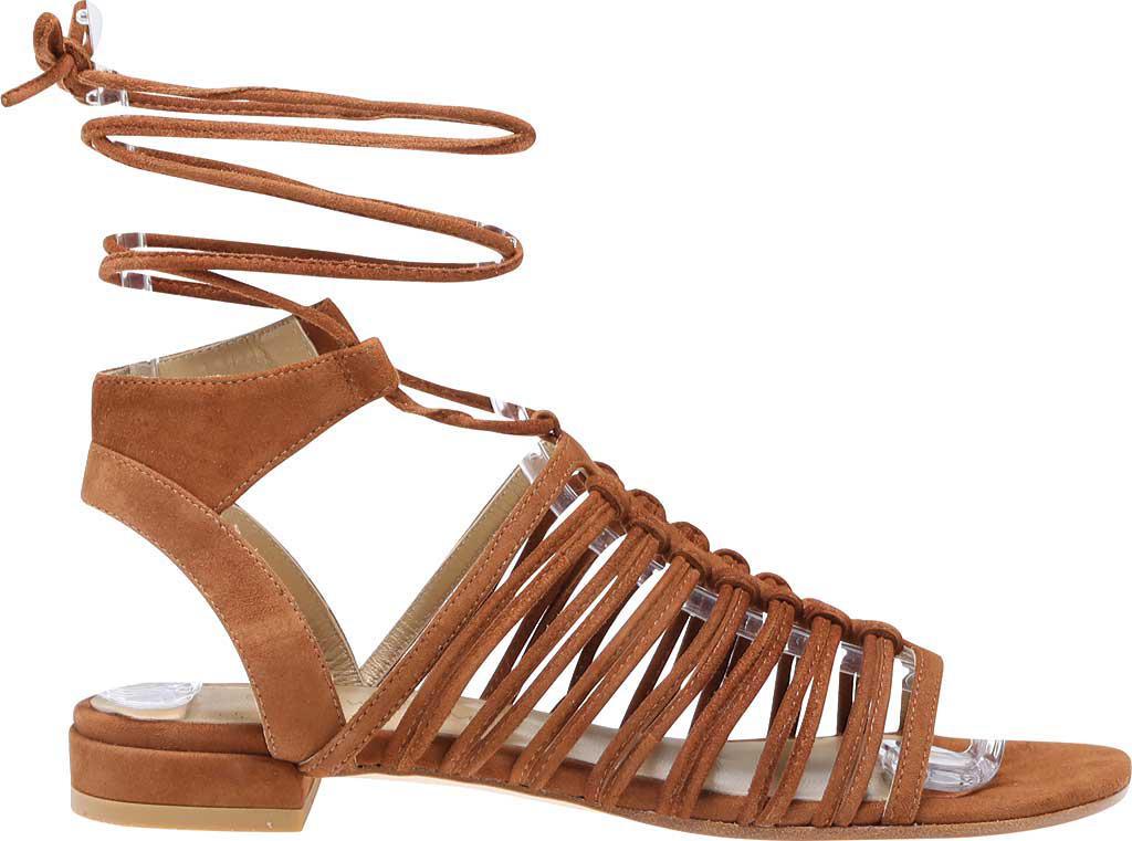 fc3de0a9c1af Lyst - Stuart Weitzman Knotagain Suede Lace-up Sandal in Brown