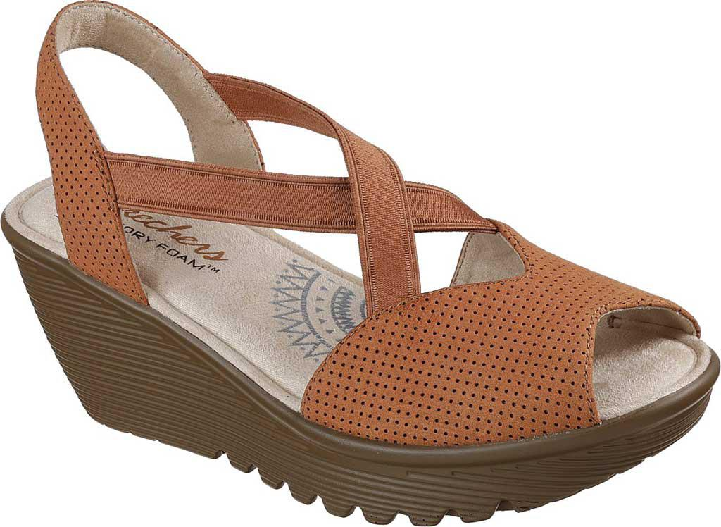 8b32dfd983a Lyst - Skechers Parallel Piazza Slingback Wedge Sandal in Brown