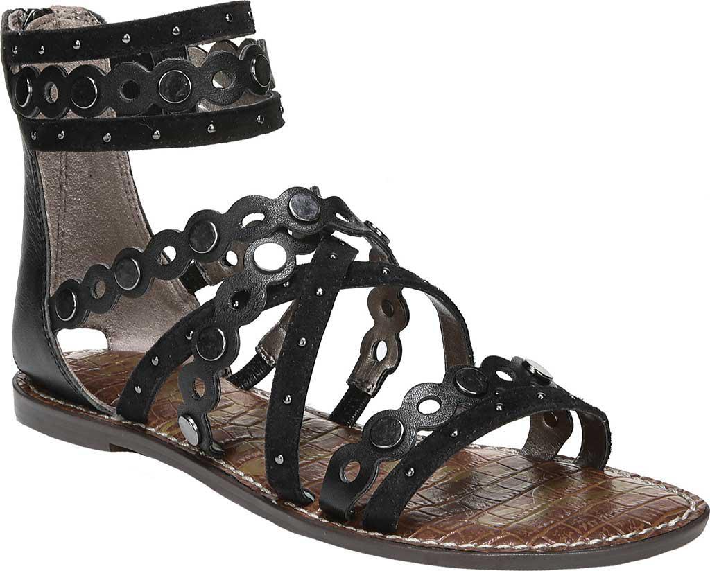 Sam Edelman Geren Leather and Suede Stud Detail Gladiator Sandals 83EsTZv