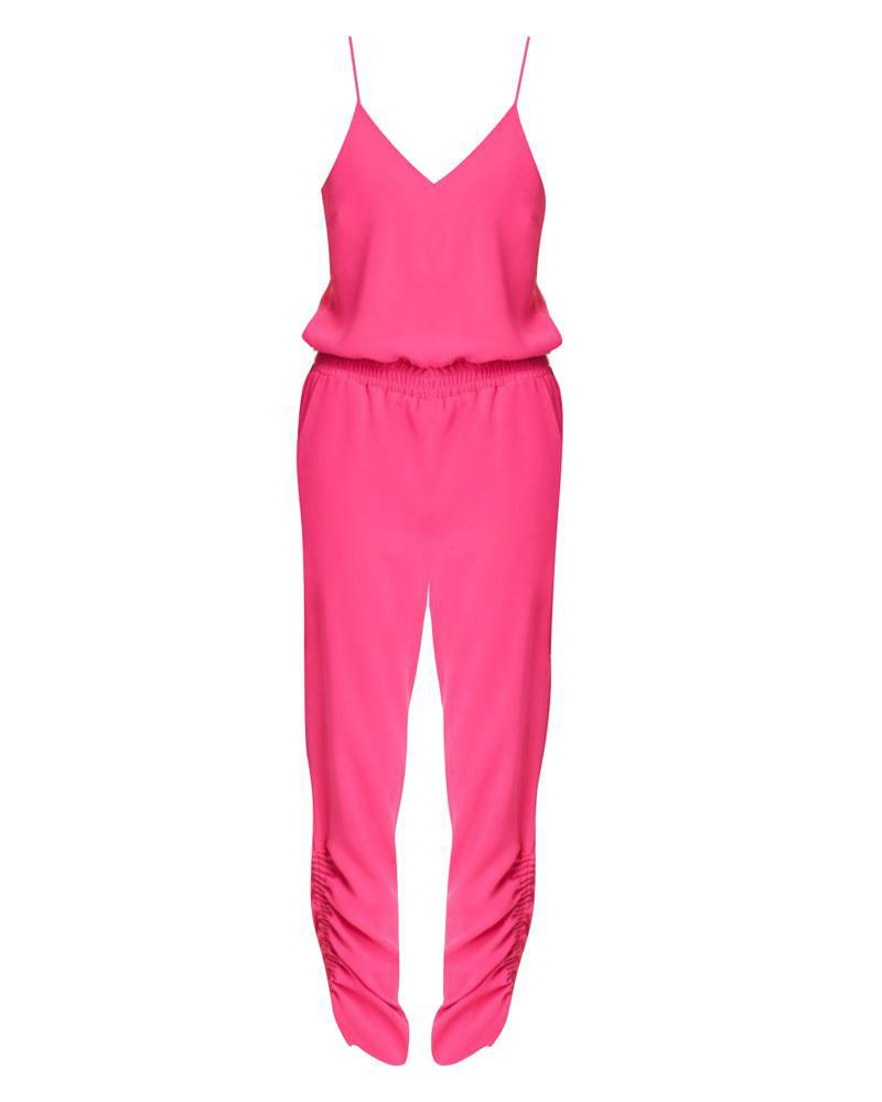 5972db54fdc Lyst - Amanda Uprichard Lowell Jumpsuit Hot Pink in Pink