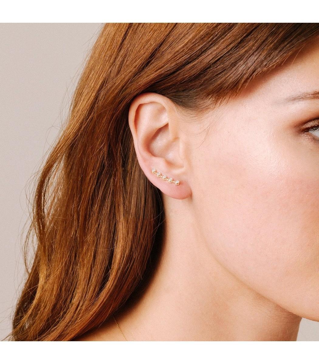 897f17cbb Adina Reyter - Metallic 5 Diamond Wing Earrings In Yellow Gold - Lyst. View  fullscreen