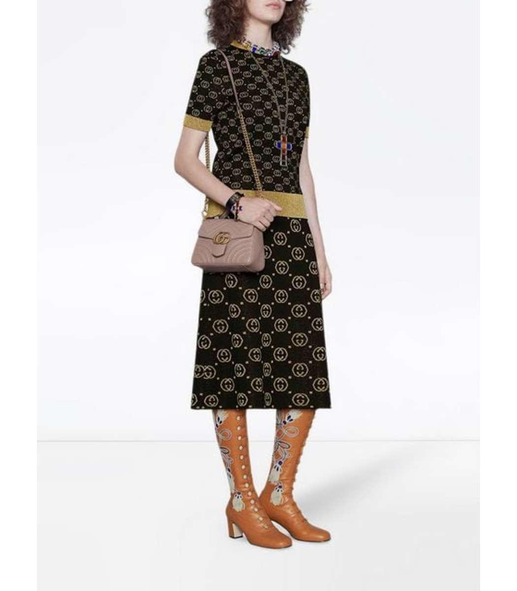 042a660351b41c Gucci - Natural Marmont 2.0 Mini Top Handle Bag - Lyst. View fullscreen