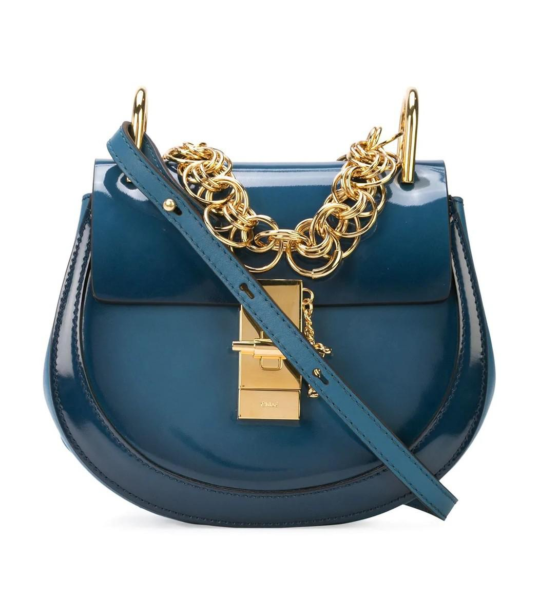 0063006d2 Chloé Blue Patent Leather Drew Bijou Bag in Blue - Lyst