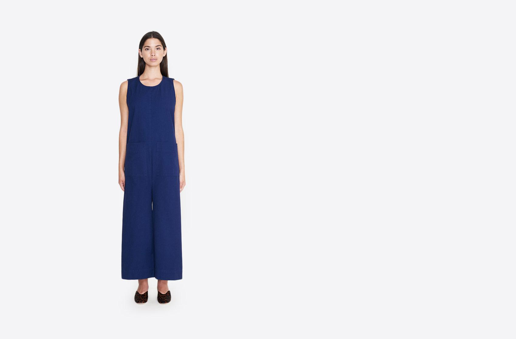 61a5f7c75614 Lyst - Ilana Kohn Harry Canvas Jumpsuit in Blue