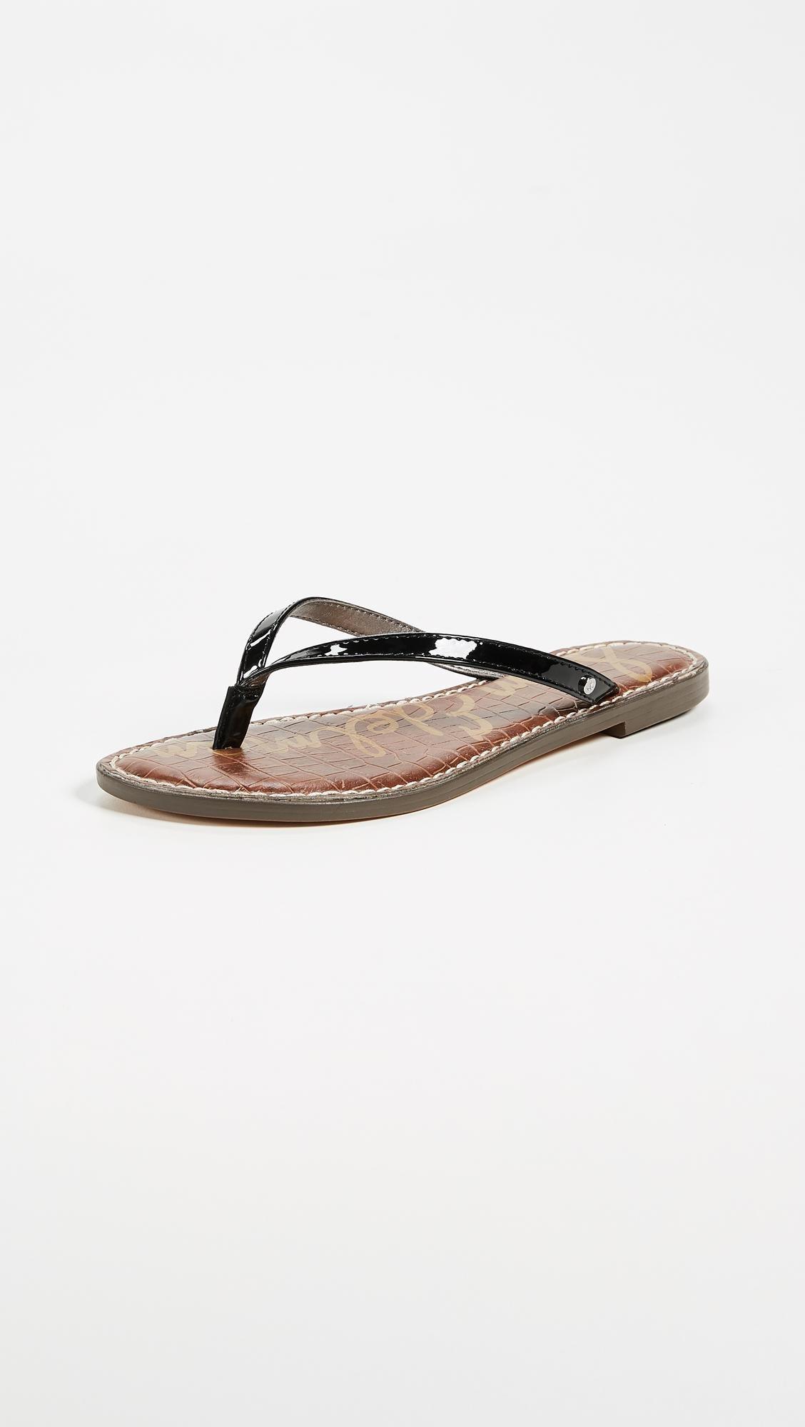 296bf261d730b Lyst - Sam Edelman Gracie Thong Sandals in Black