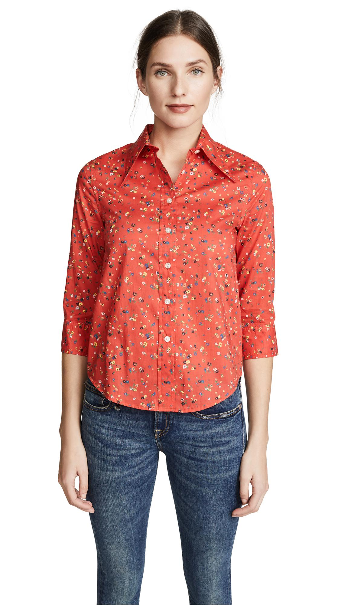 Lyst R13 Collared Shirt In Red