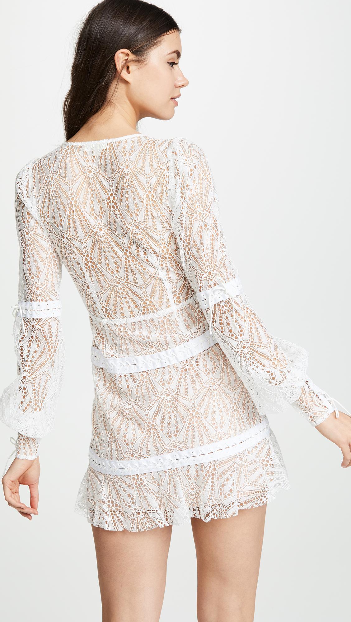 be19d482aca For Love   Lemons - White Bright Lights Long Sleeve Mini Dress - Lyst. View  fullscreen