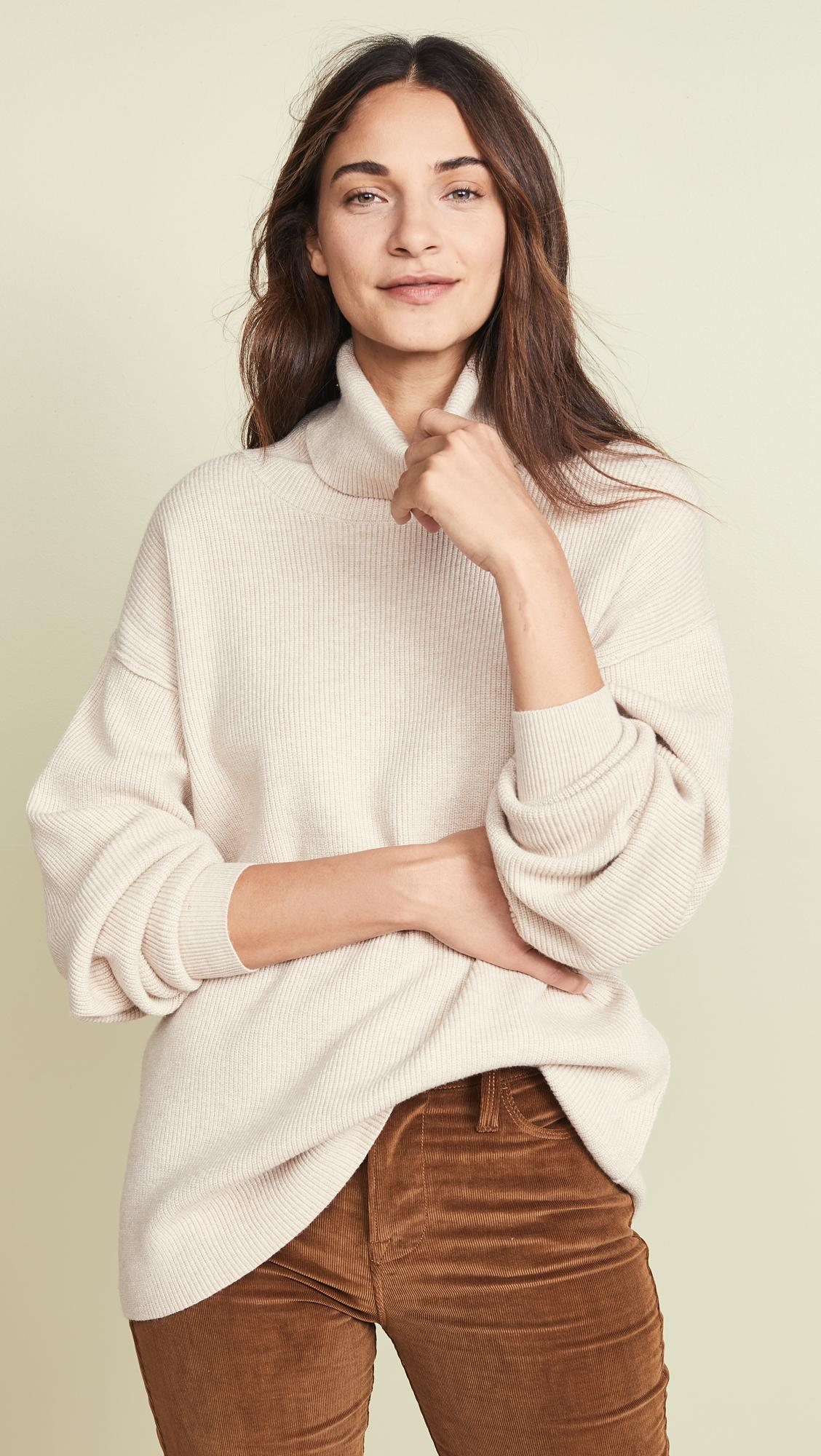 adecae7426d1 Free People Softly Structured Tunic Sweater in White - Lyst