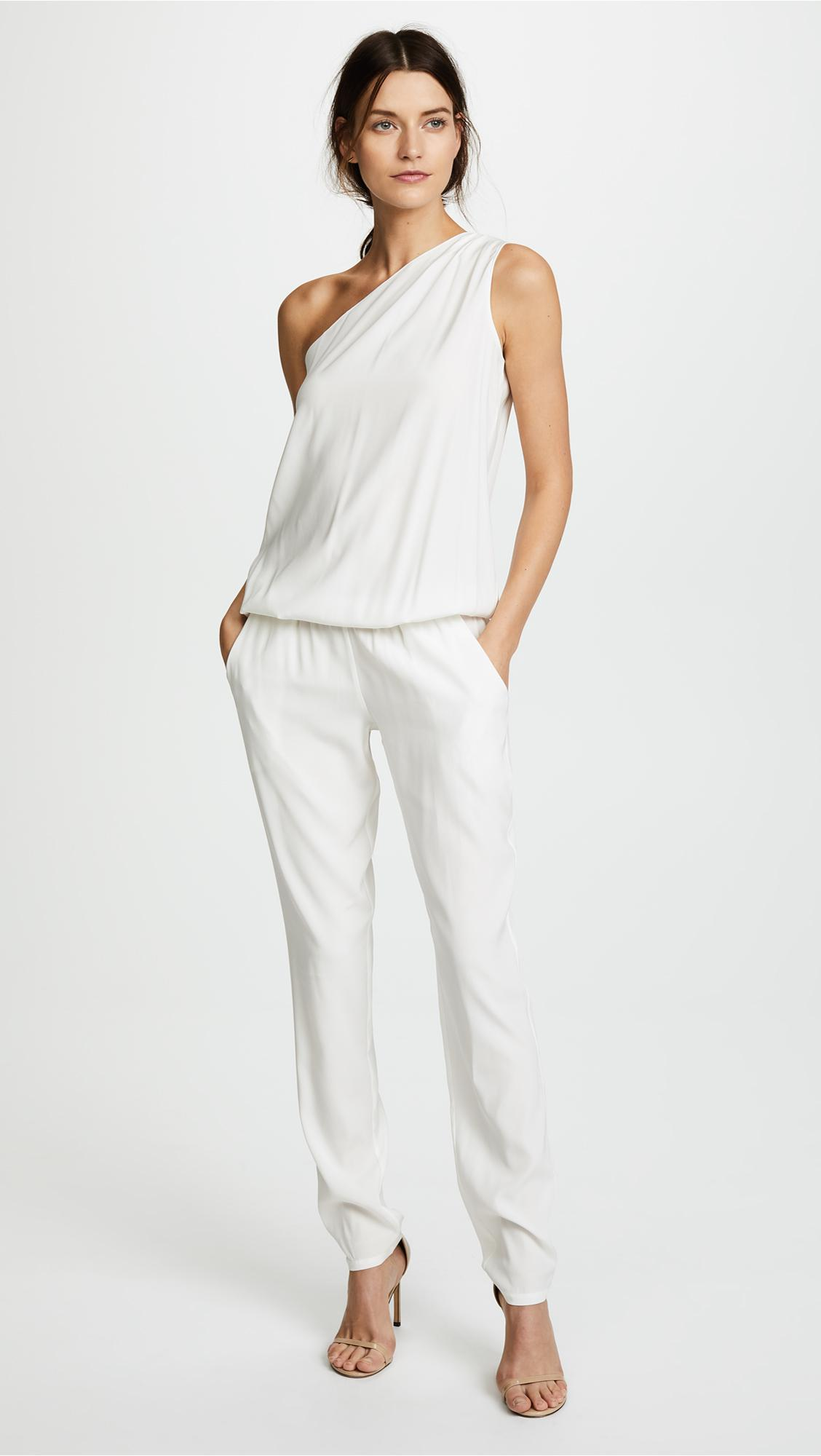 d6de57666d61 Lyst - Ramy Brook Lulu One Shoulder Jumpsuit in White