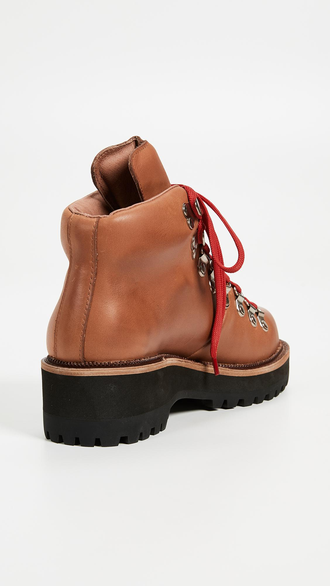 Jeffrey Campbell Leather Explorer Wedge Hiking Booties Lyst