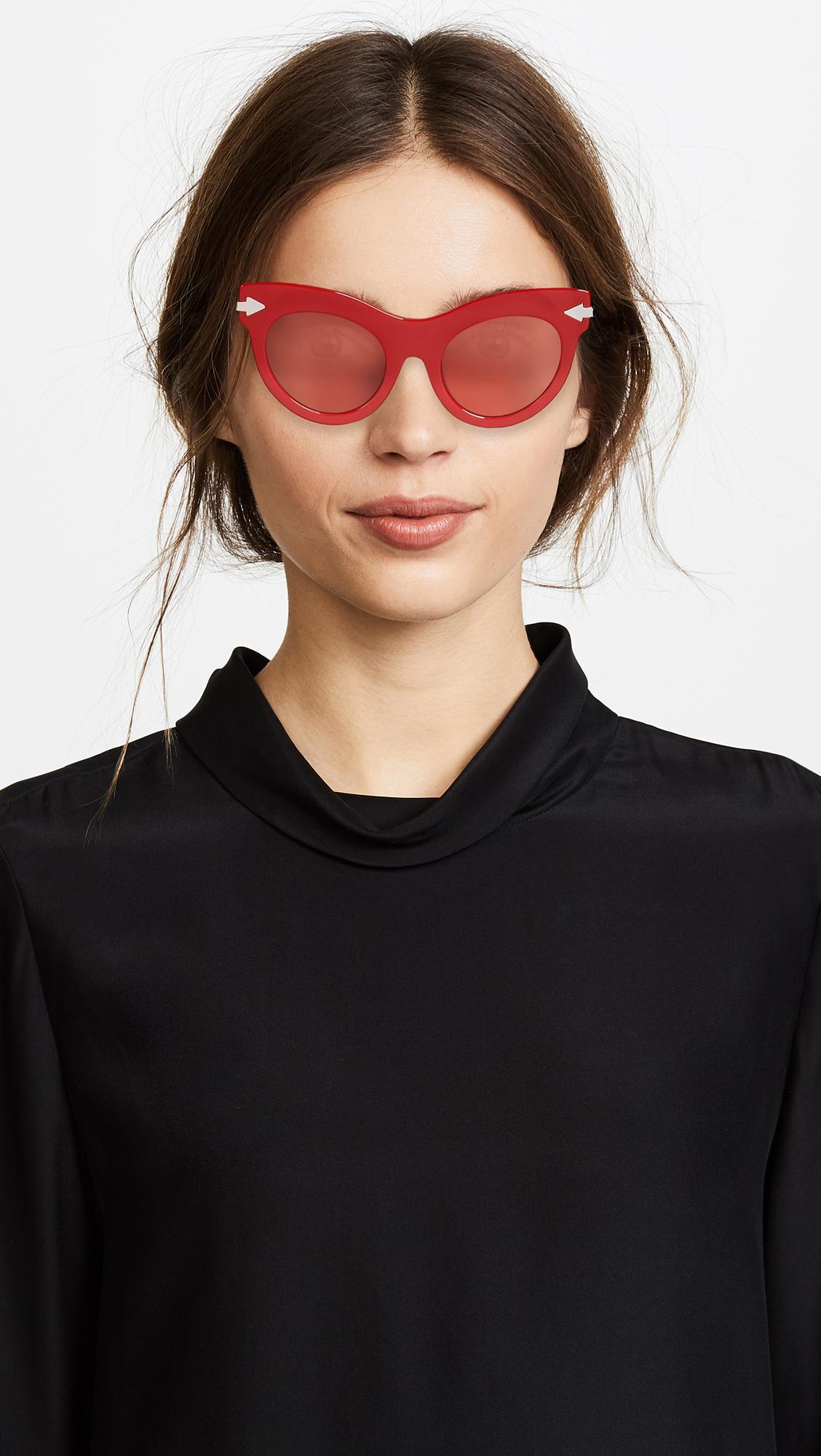 3287b94bea8b Karen Walker Miss Lark Sunglasses in Red - Lyst