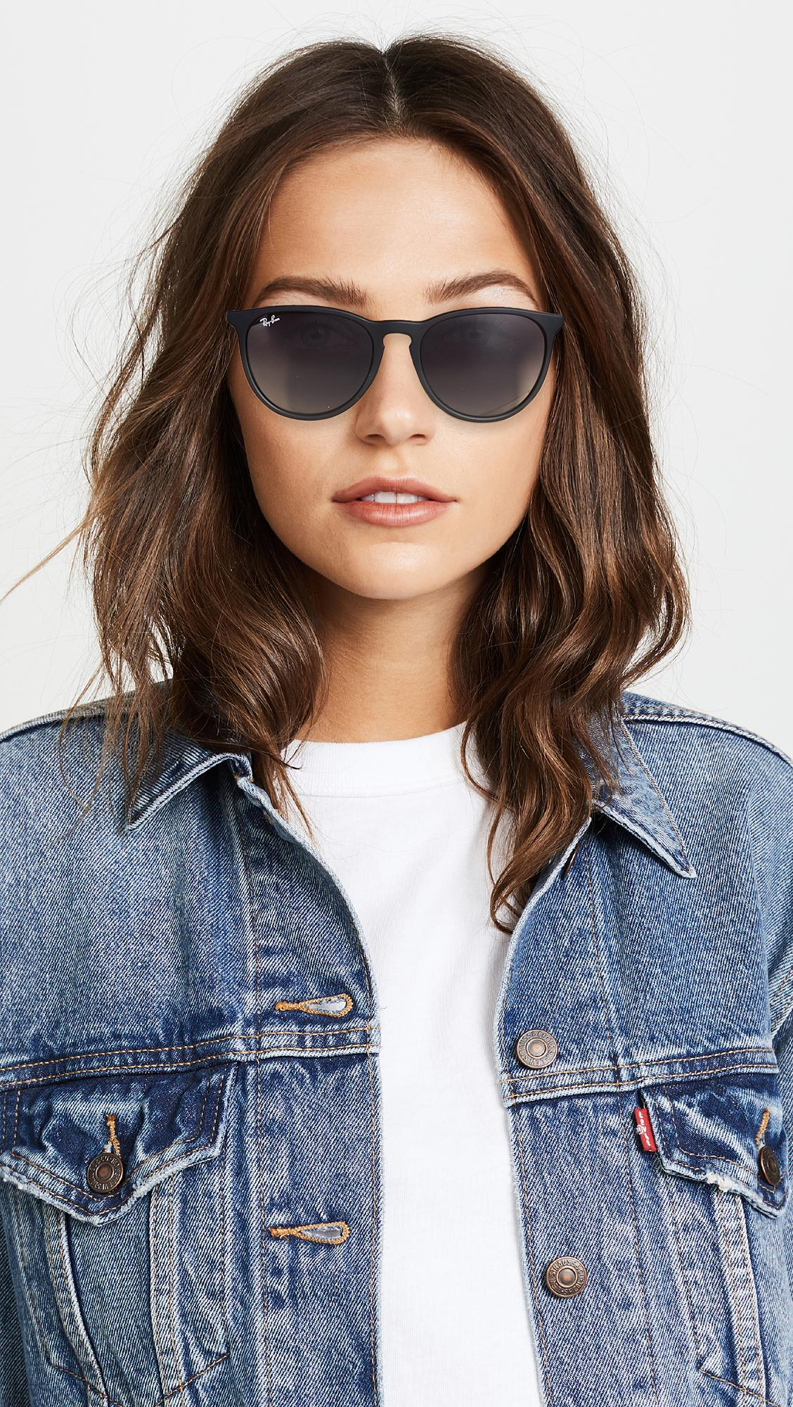 Lyst Ray Ban Erika Sunglasses In Black