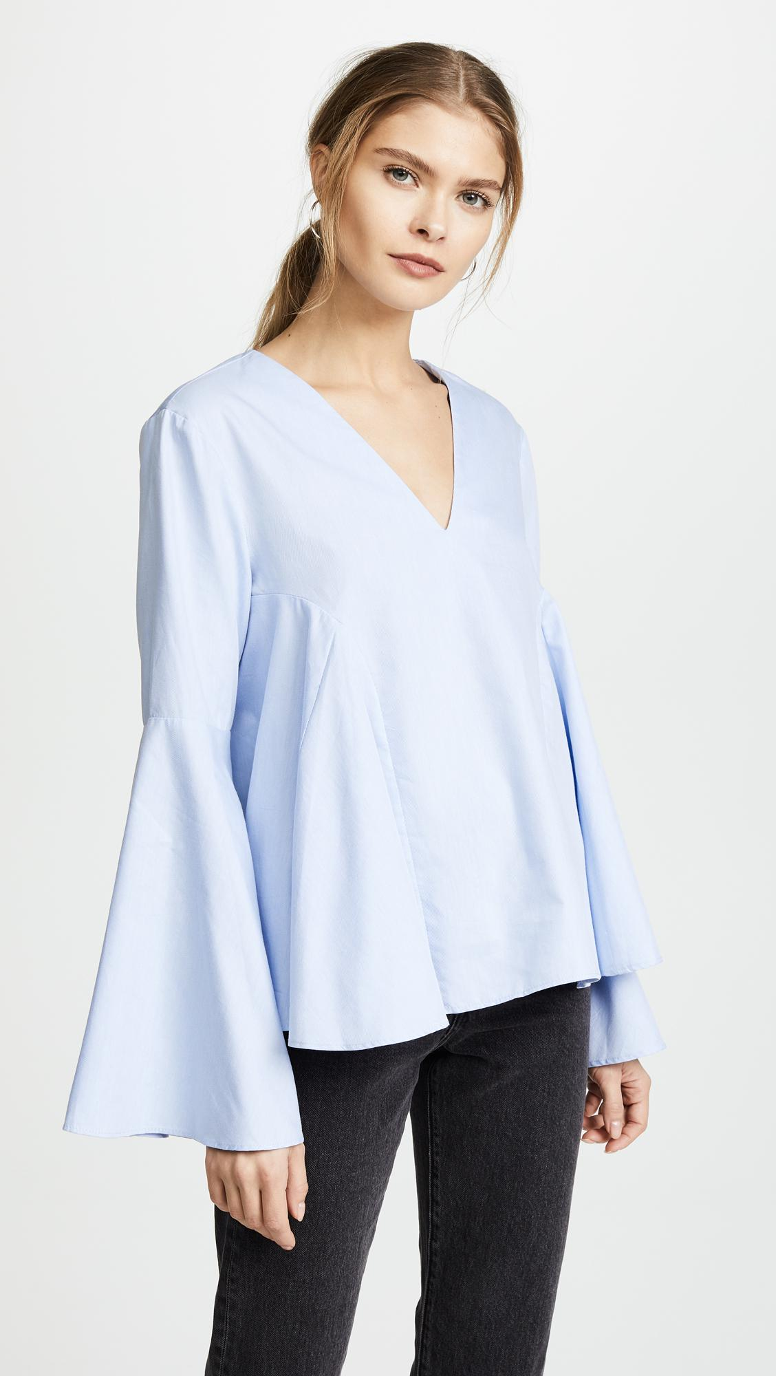 2cbce9a1b8 Lyst - Endless Rose Belle Blouse in Blue