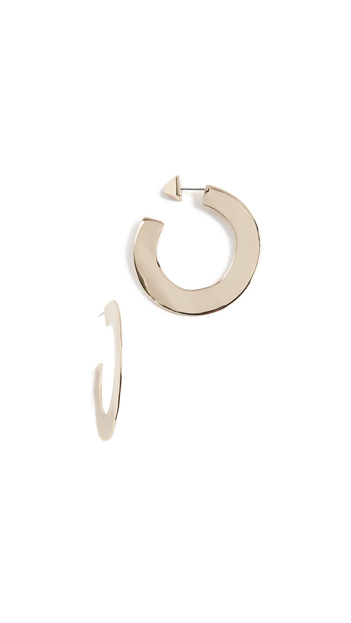 Alexis Bittar Enlarged Liquid Metal Orbit Hoop Earrings oEFLnJp