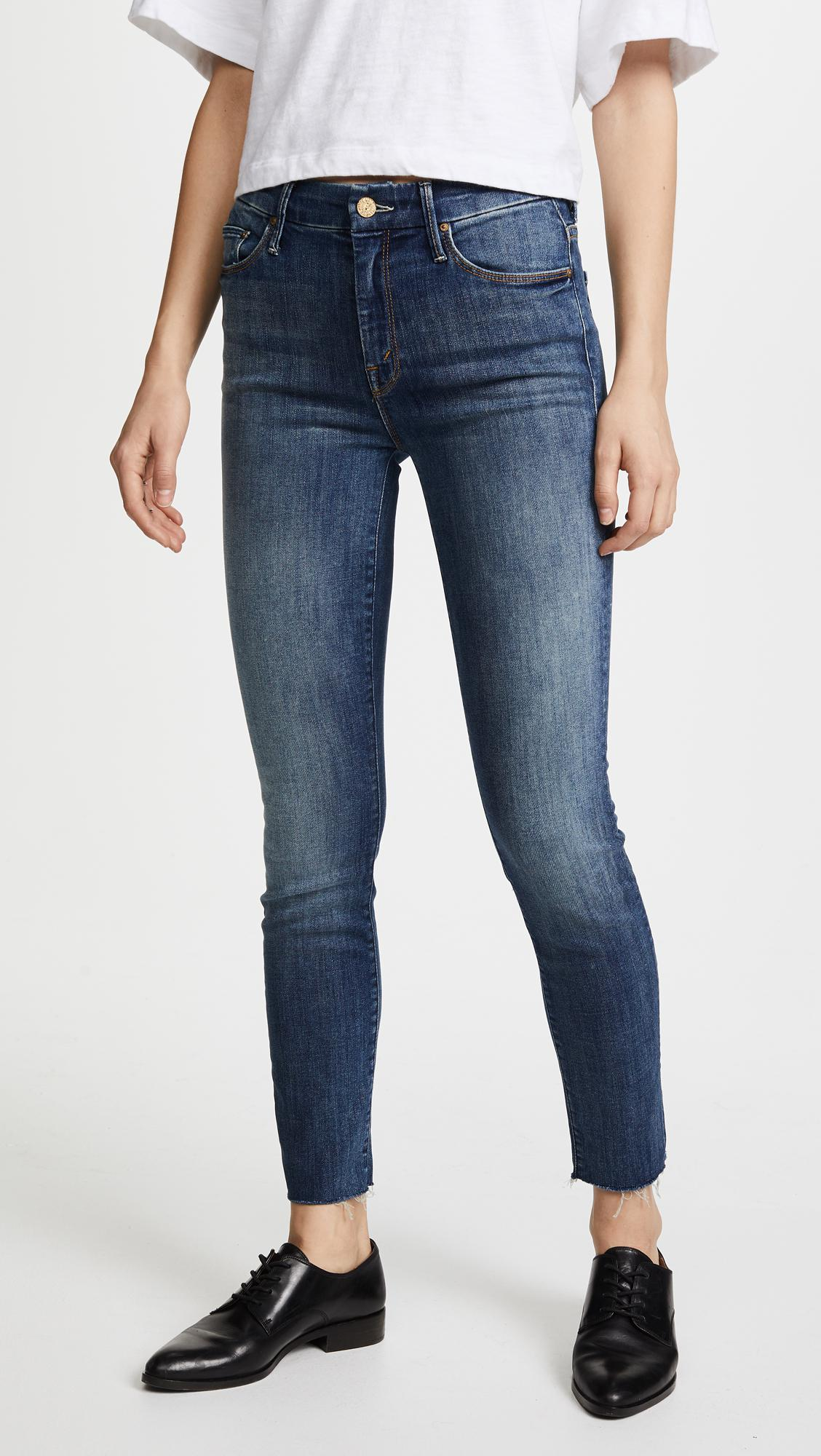 high-waisted skinny jeans - Blue Mother C1EIOr