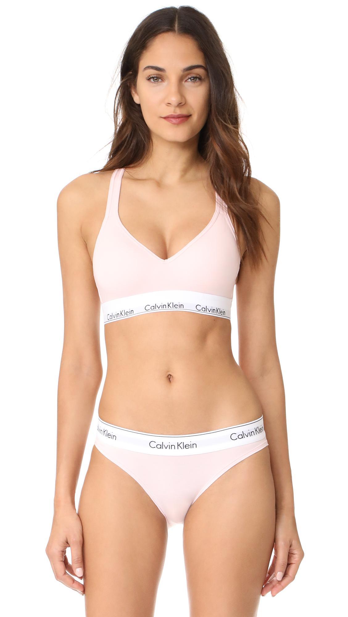 71892622e2 Calvin Klein - Multicolor Modern Cotton Lightly Lined Bralette - Lyst. View  fullscreen