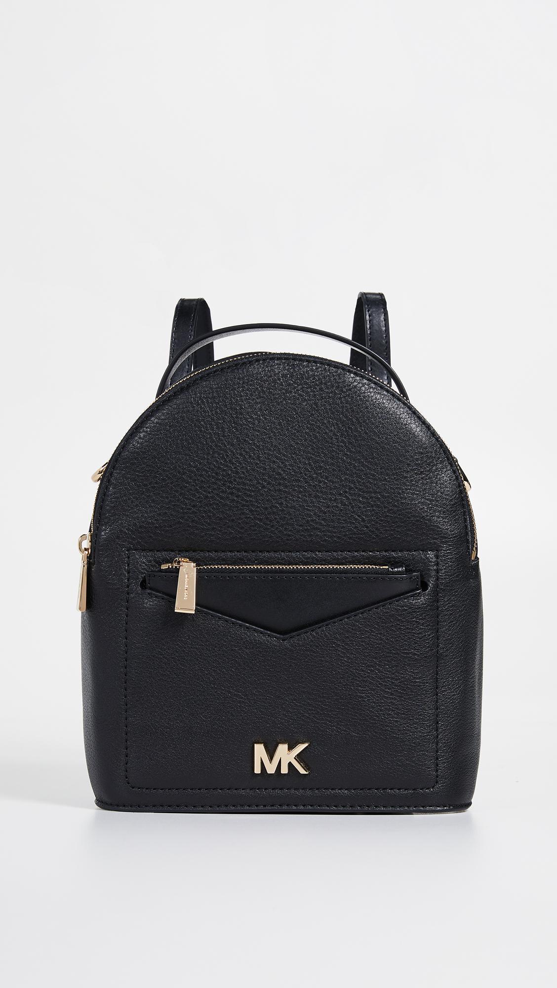 af56c7cdbea7 Michael Michael Kors Jessa Small Convertible Backpack in Black - Lyst