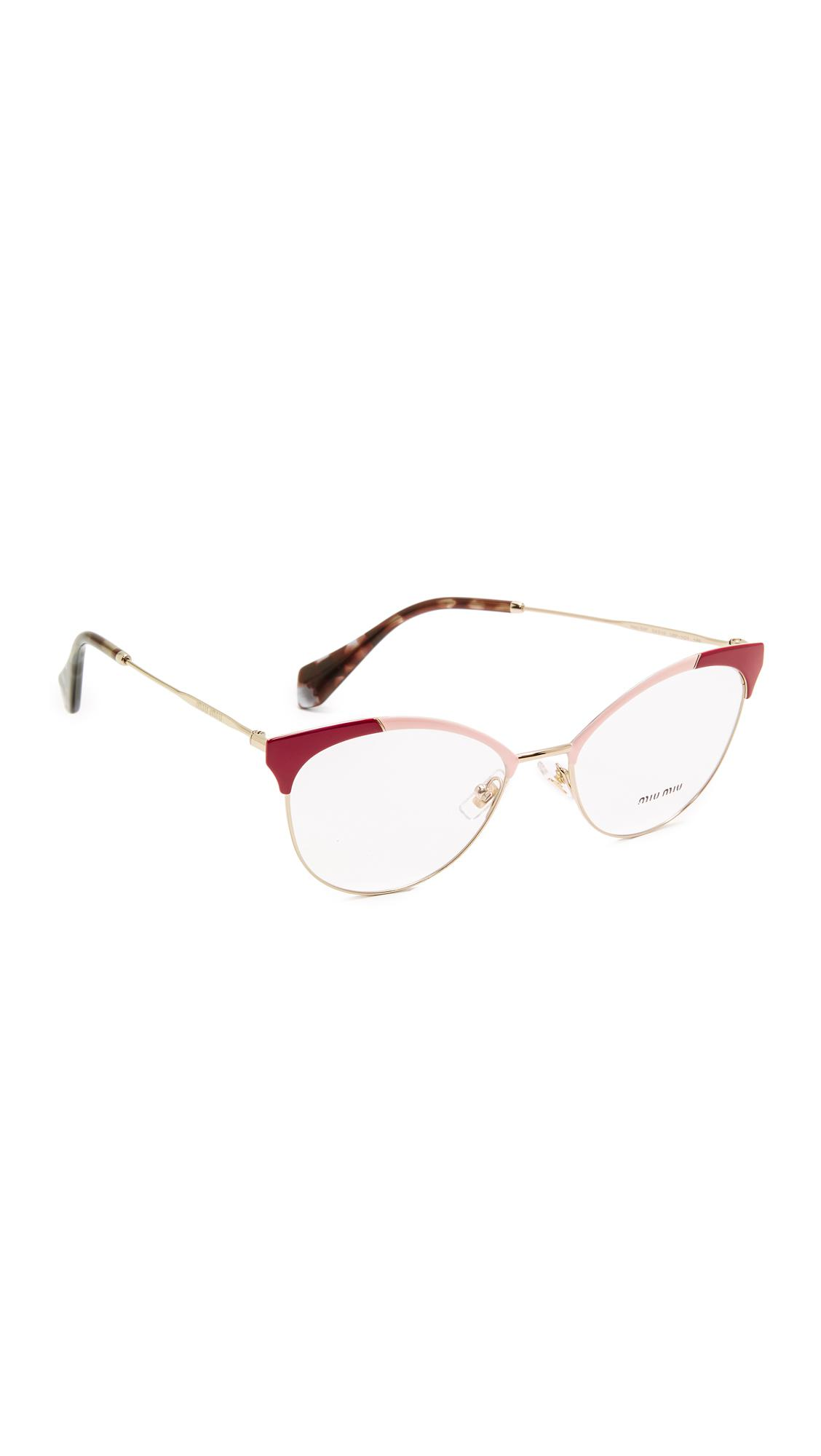 90201652b1fa Lyst - Miu Miu Colorblock Glasses
