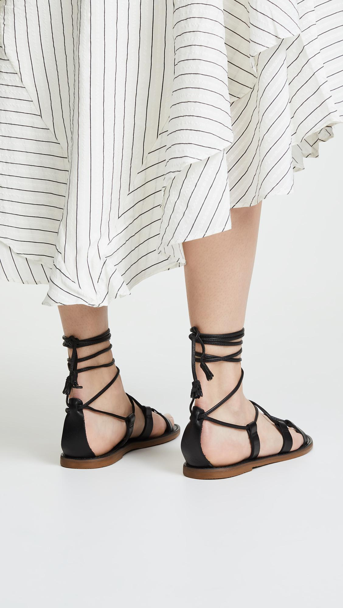 c57054b016a7 Madewell Outstock Lace Up Sandals - Lyst