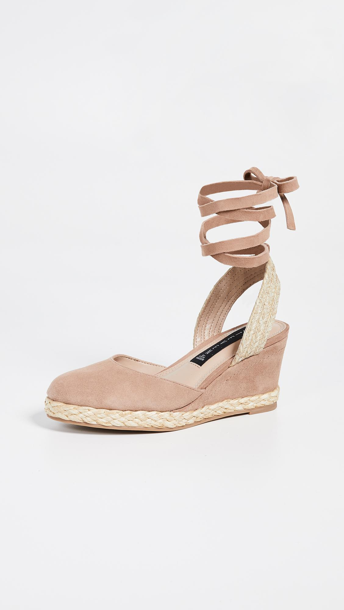 1e63a4cd108 Lyst - Steven by Steve Madden Charly Wedge Espadrilles in Natural