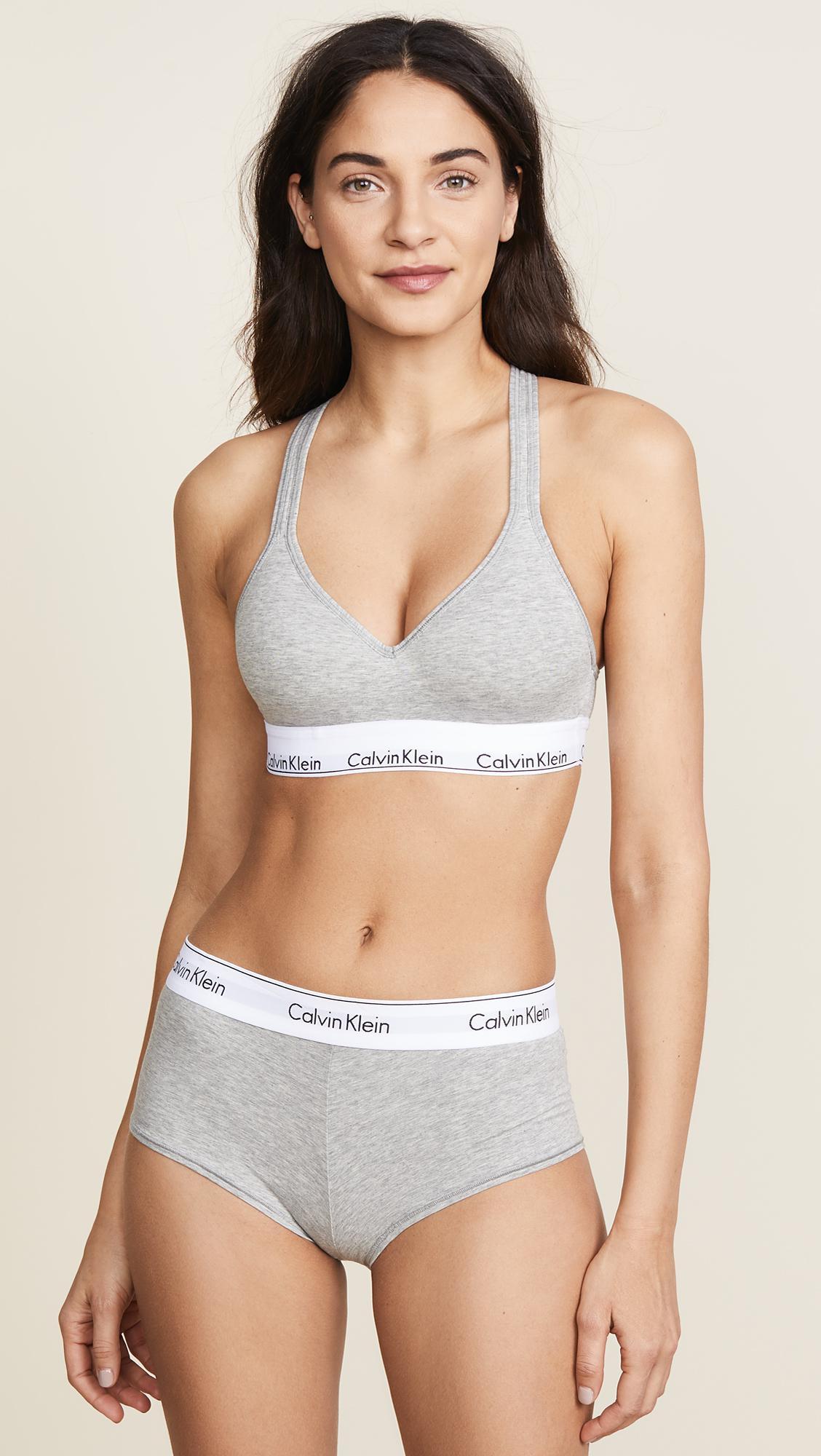 96b0b234f6770 Calvin Klein - Gray Bralette - Modern Cotton - Lyst. View fullscreen