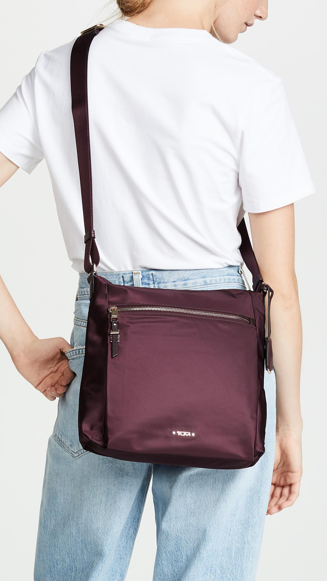 8839ea7e73 Lyst - Tumi Canton Cross Body Bag in Purple
