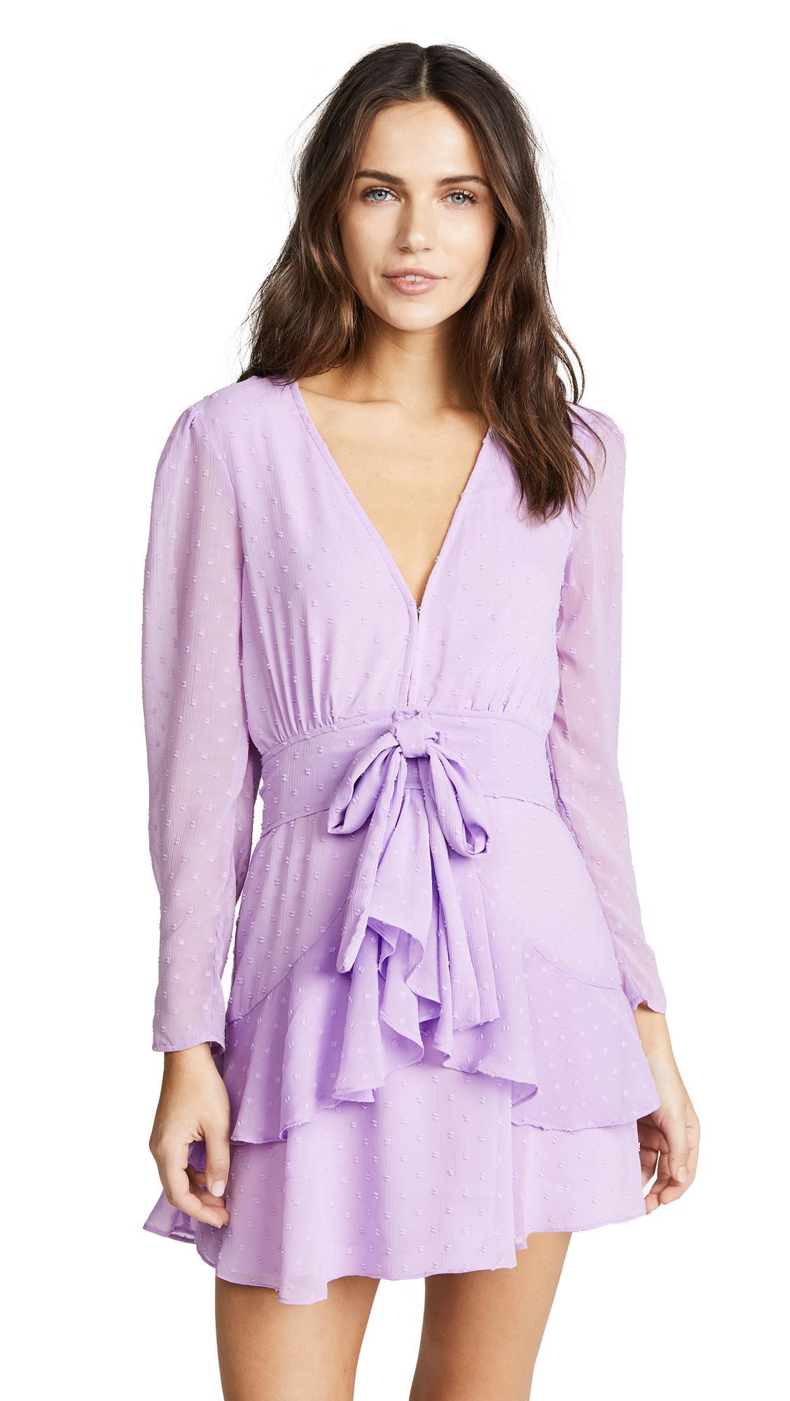 5d44e0b87ed6 For Love   Lemons Tarta Long Sleeve Mini Dress in Purple - Lyst