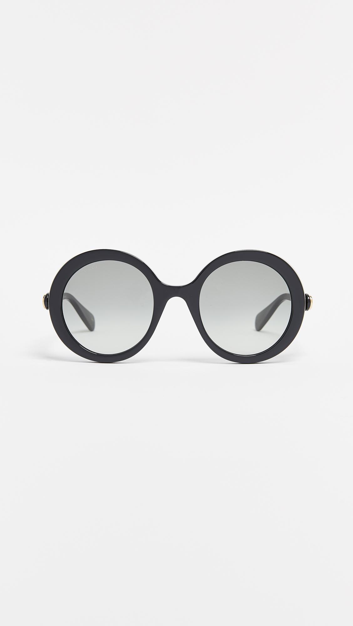e77f1fcae9f Lyst - Gucci Glamourous Bold Round Sunglasses in Black