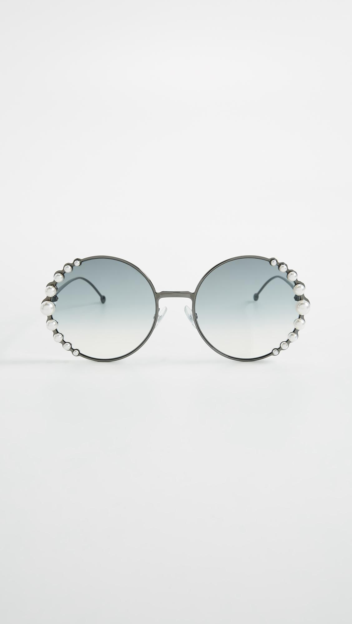 1b3bc24ad3b Gallery. Previously sold at  Shopbop · Women s Round Sunglasses ...