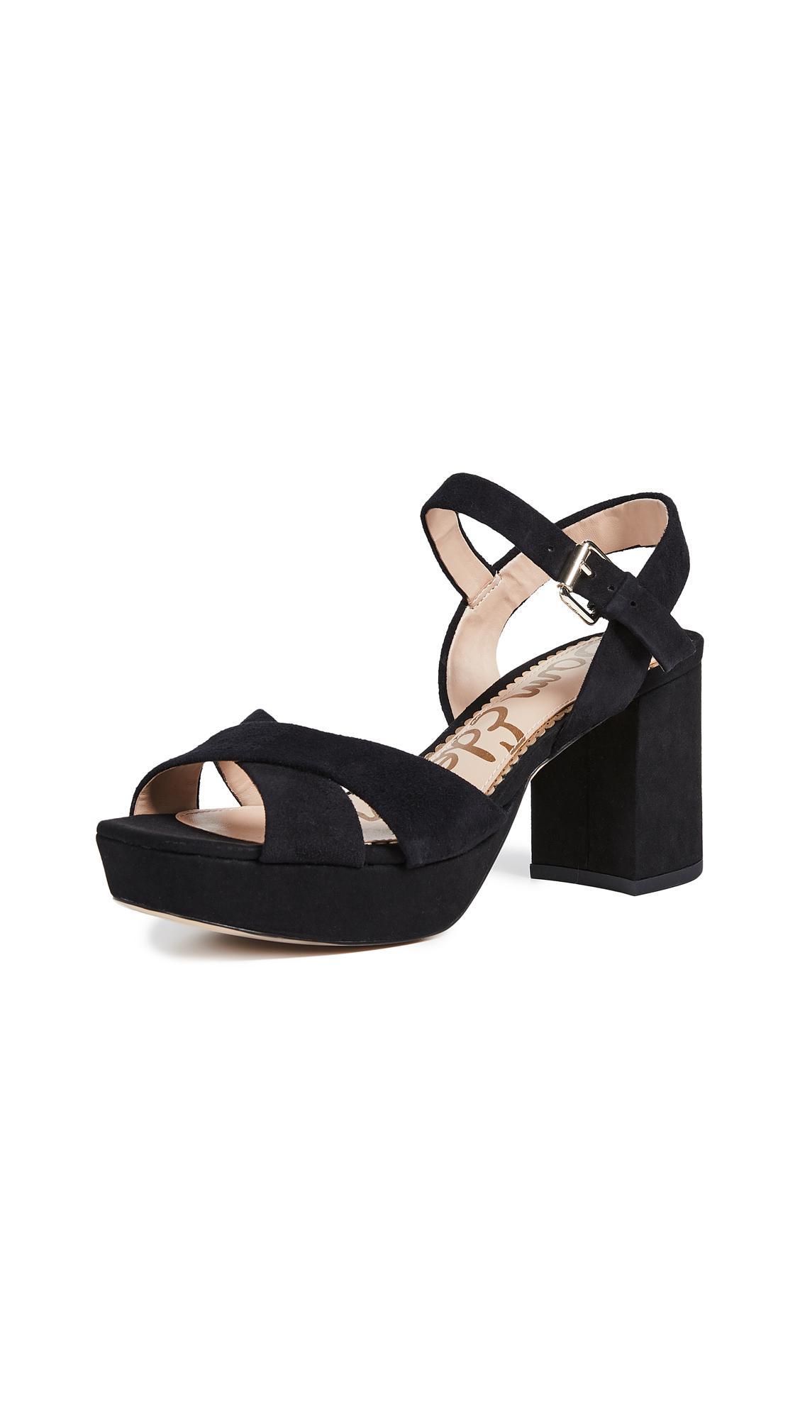 a0e415dd9aa Lyst - Sam Edelman Jolene Platform Sandals in Black