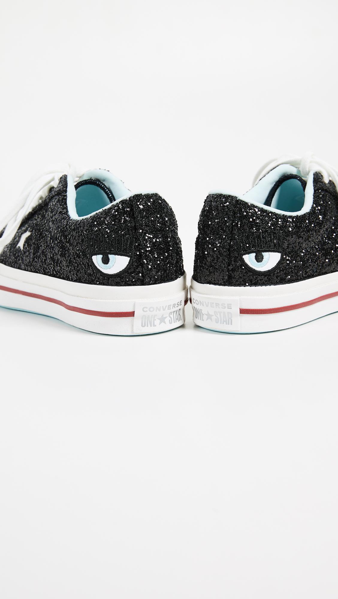 0fc8bb75477d Lyst - Converse One Star X Chiara Ferragni Lace Up Sneakers in Black