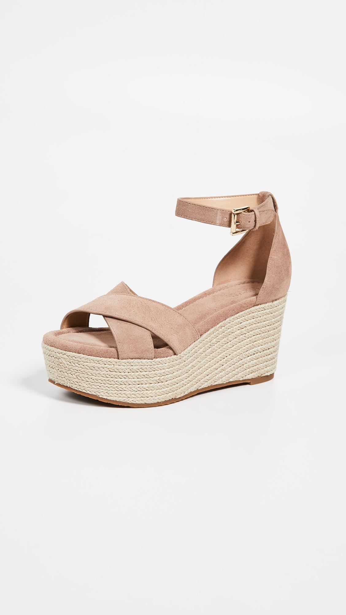 54528065df8 Lyst - MICHAEL Michael Kors Desiree Wedges in Natural