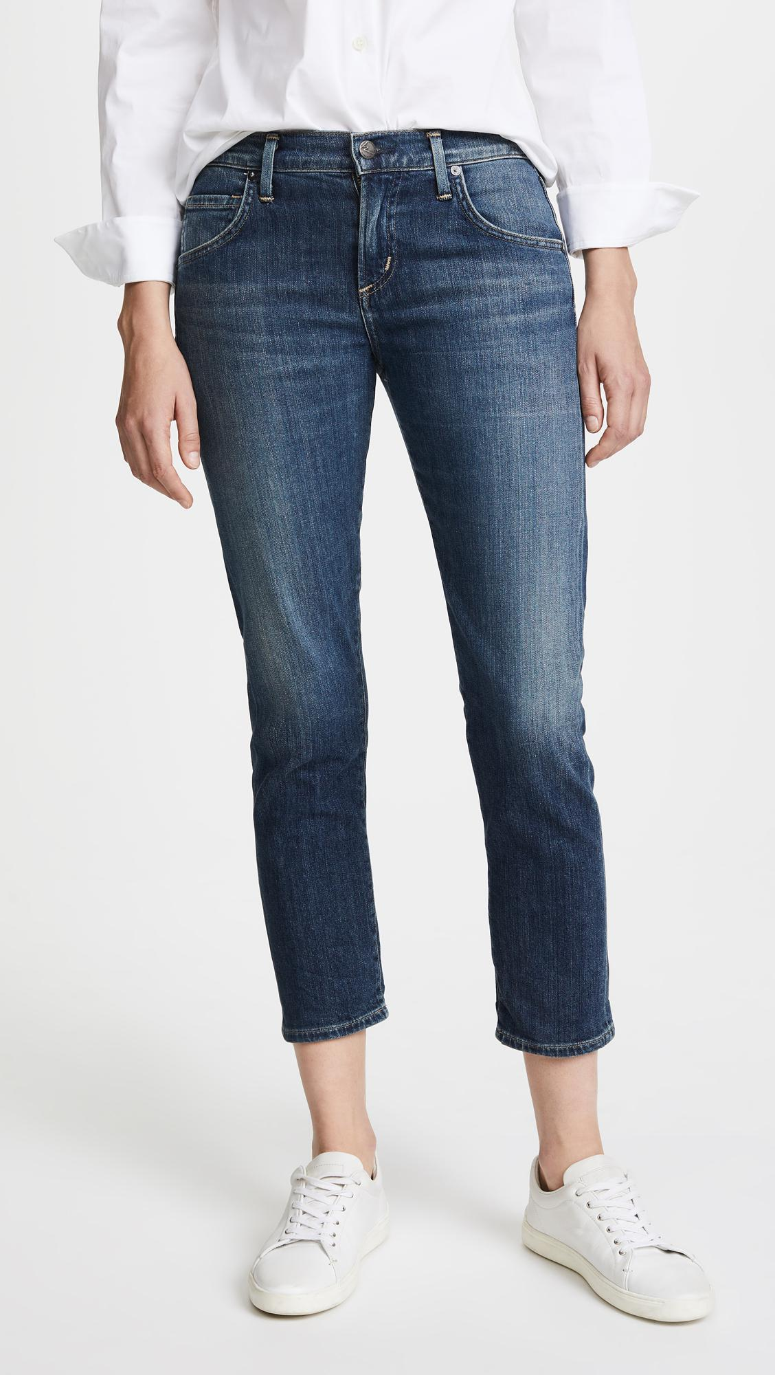 Emerson boyfriend cropped jeans - Blue Citizens Of Humanity