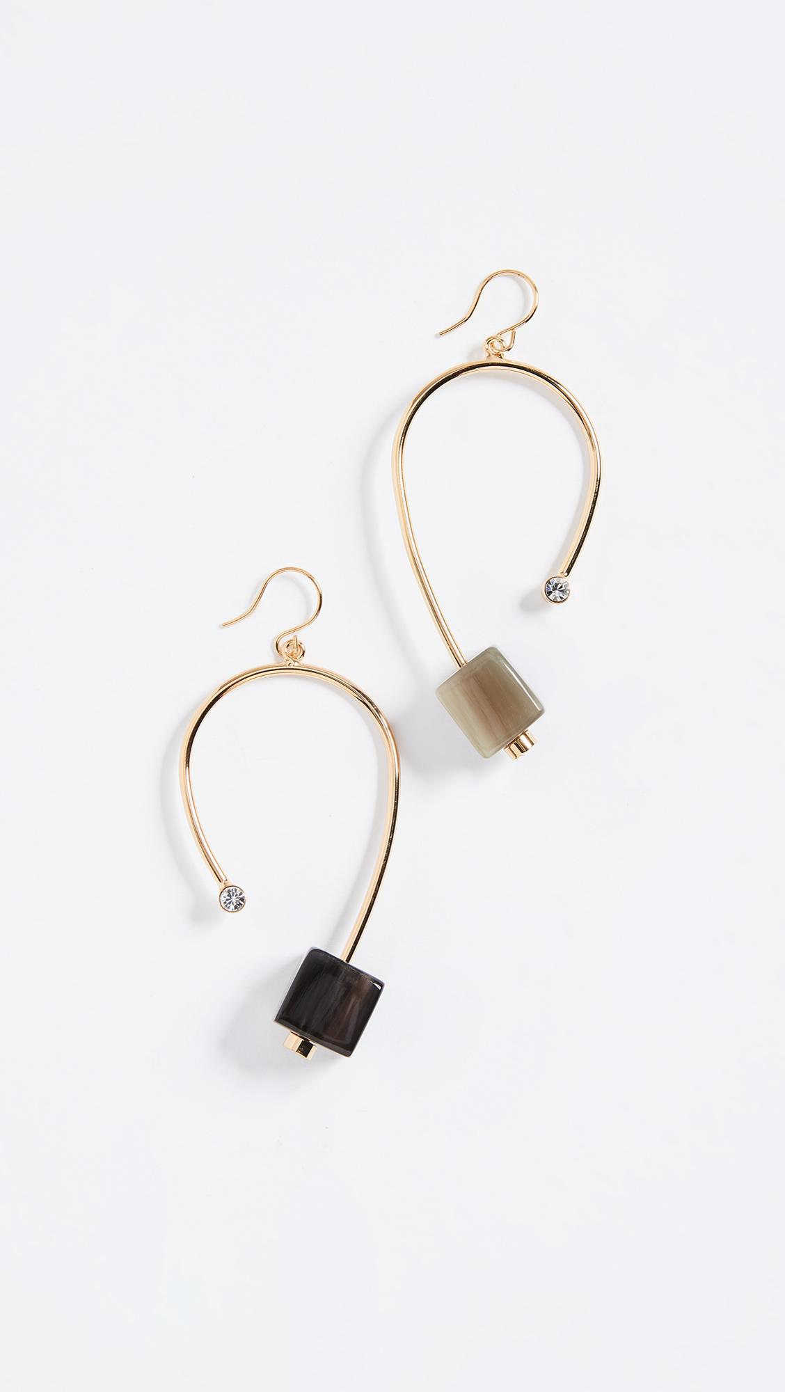 Marni Metal Horn Strass Earrings KavBxvo5F