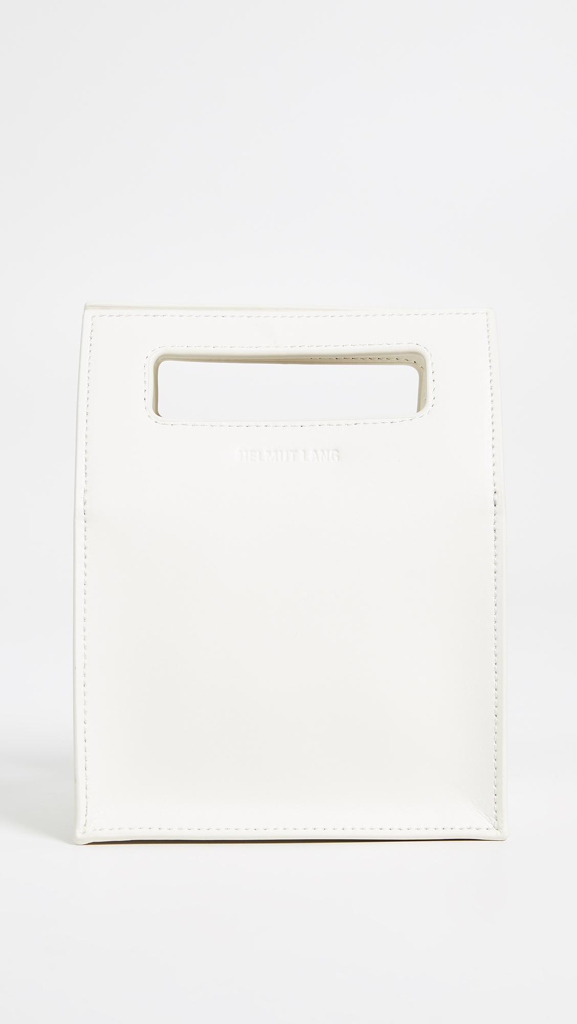 Lunch Bag in Ice Blue Patent Leather Helmut Lang