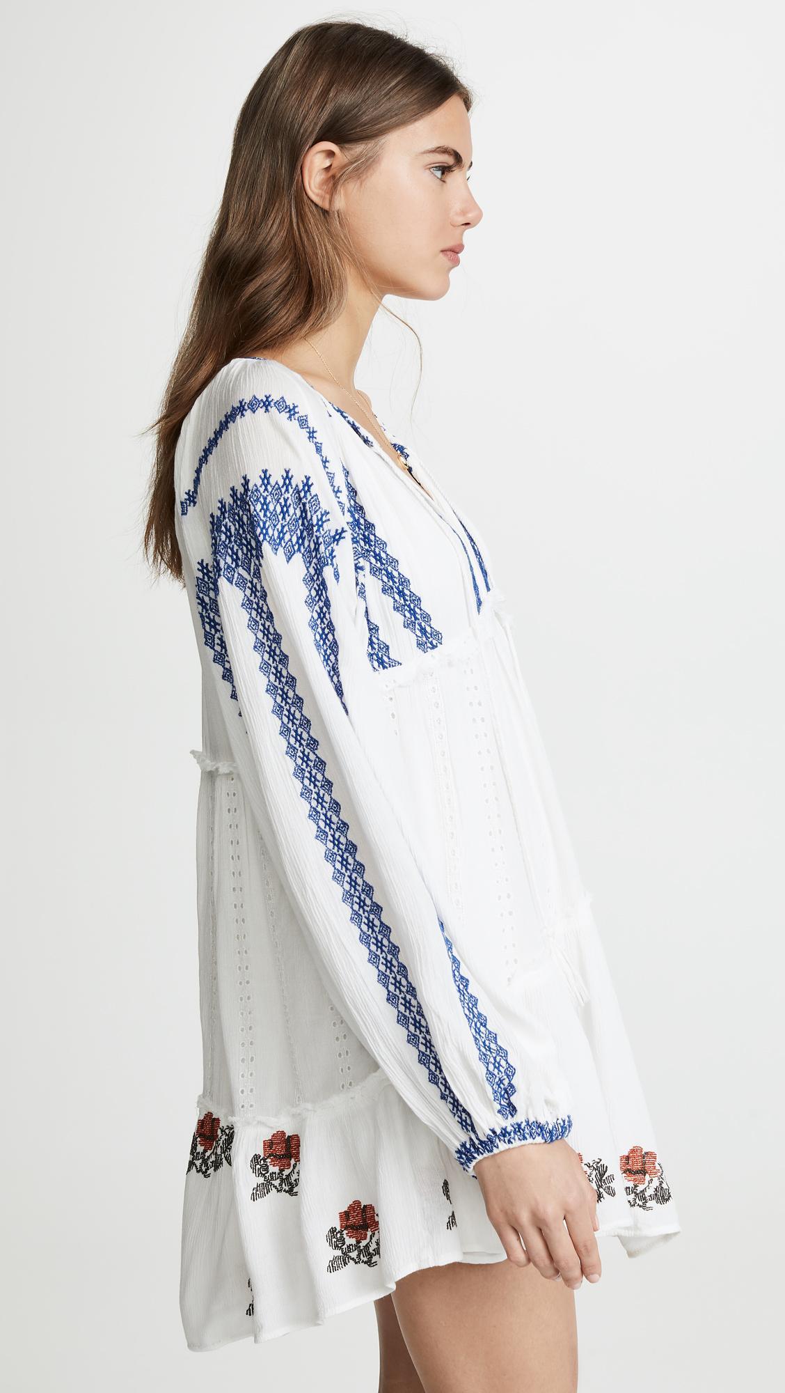 20c5217186d67 Free People Wild Horses Mini Dress in White - Lyst