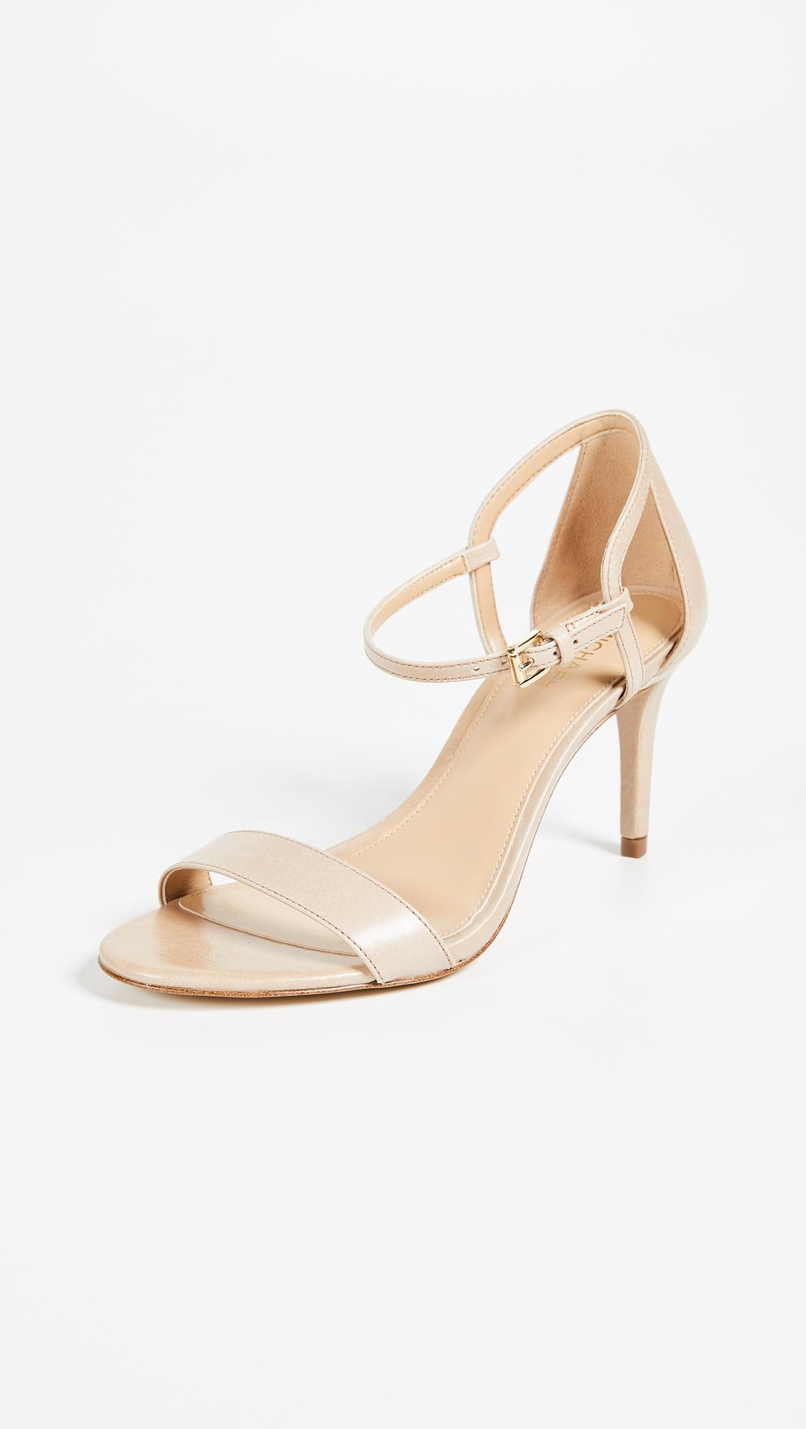 7b1beac54ef2 MICHAEL Michael Kors Simone Mid Sandals in Natural - Lyst