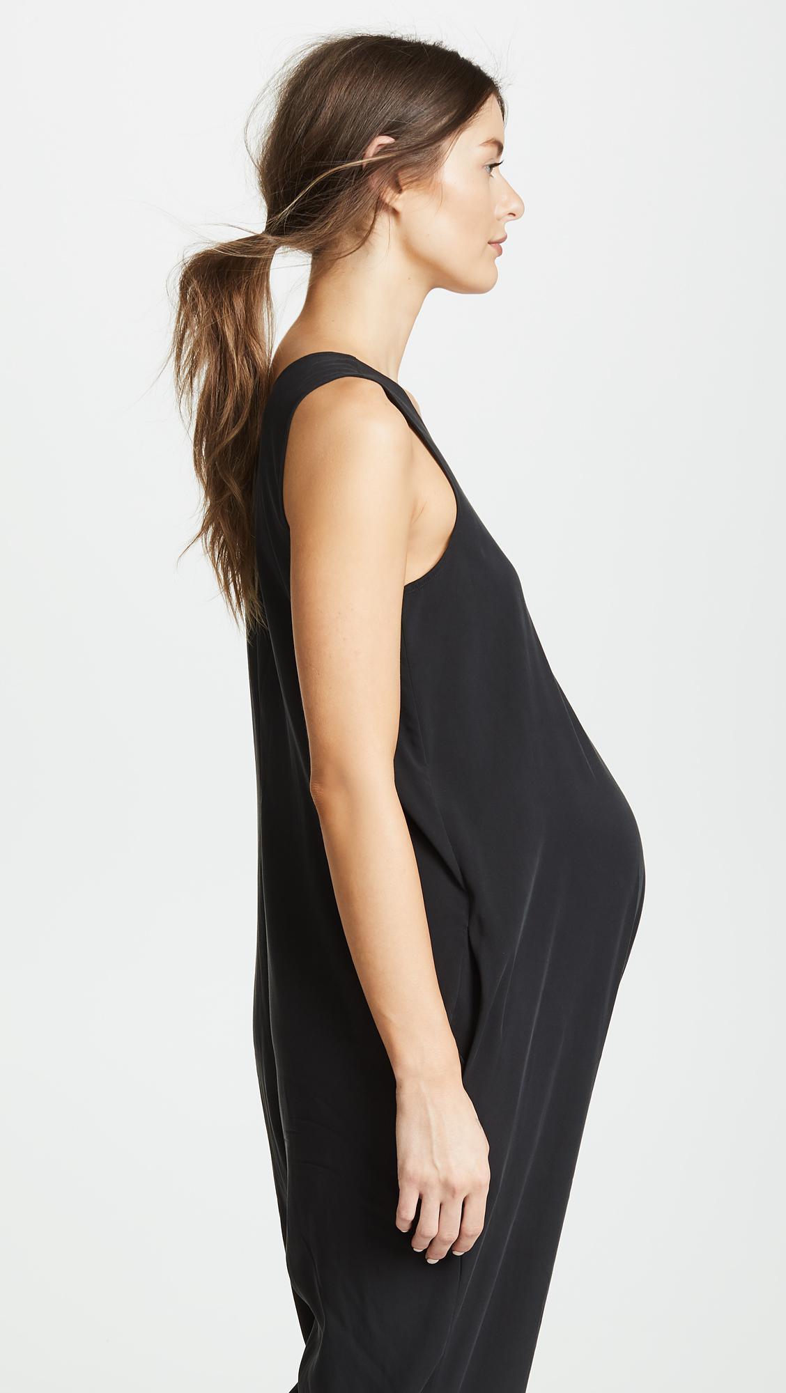 1b31d55fddf Lyst - Ingrid   Isabel Zip Front Maternity Jumpsuit in Black