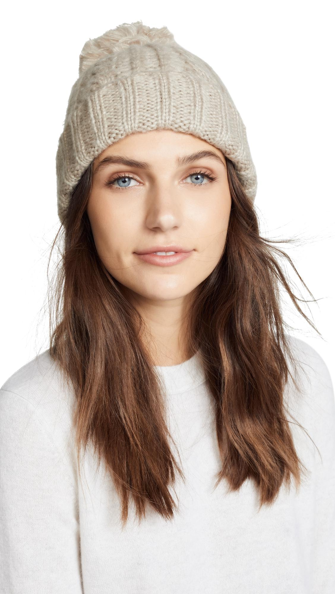 450ed9eb970 Hat Attack - Brown Soft Cable Beanie Hat - Lyst. View fullscreen