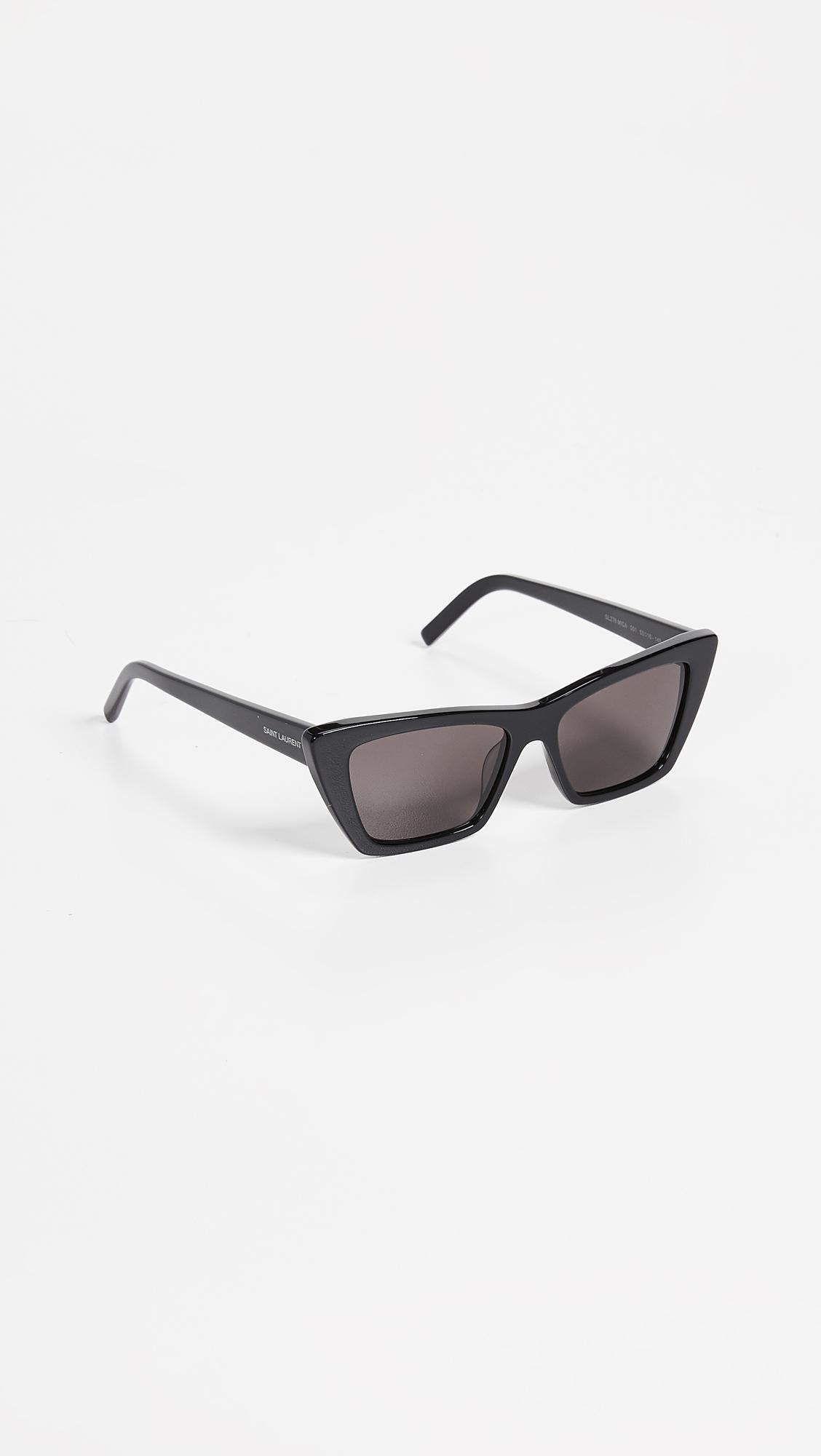 2b61808cc4 Saint Laurent - Multicolor Narrow Cat Eye Sunglasses - Lyst. View fullscreen