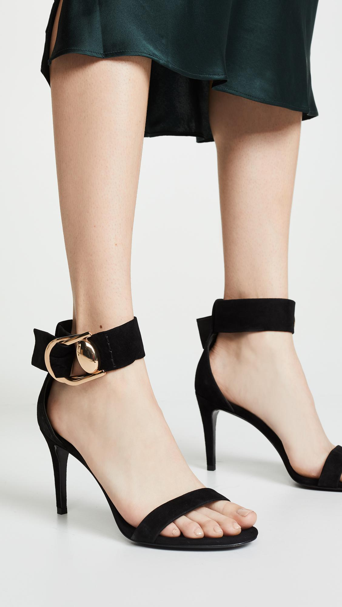 5322f5d42fbf1 Stella Luna Double-ring Sandals in Black - Lyst