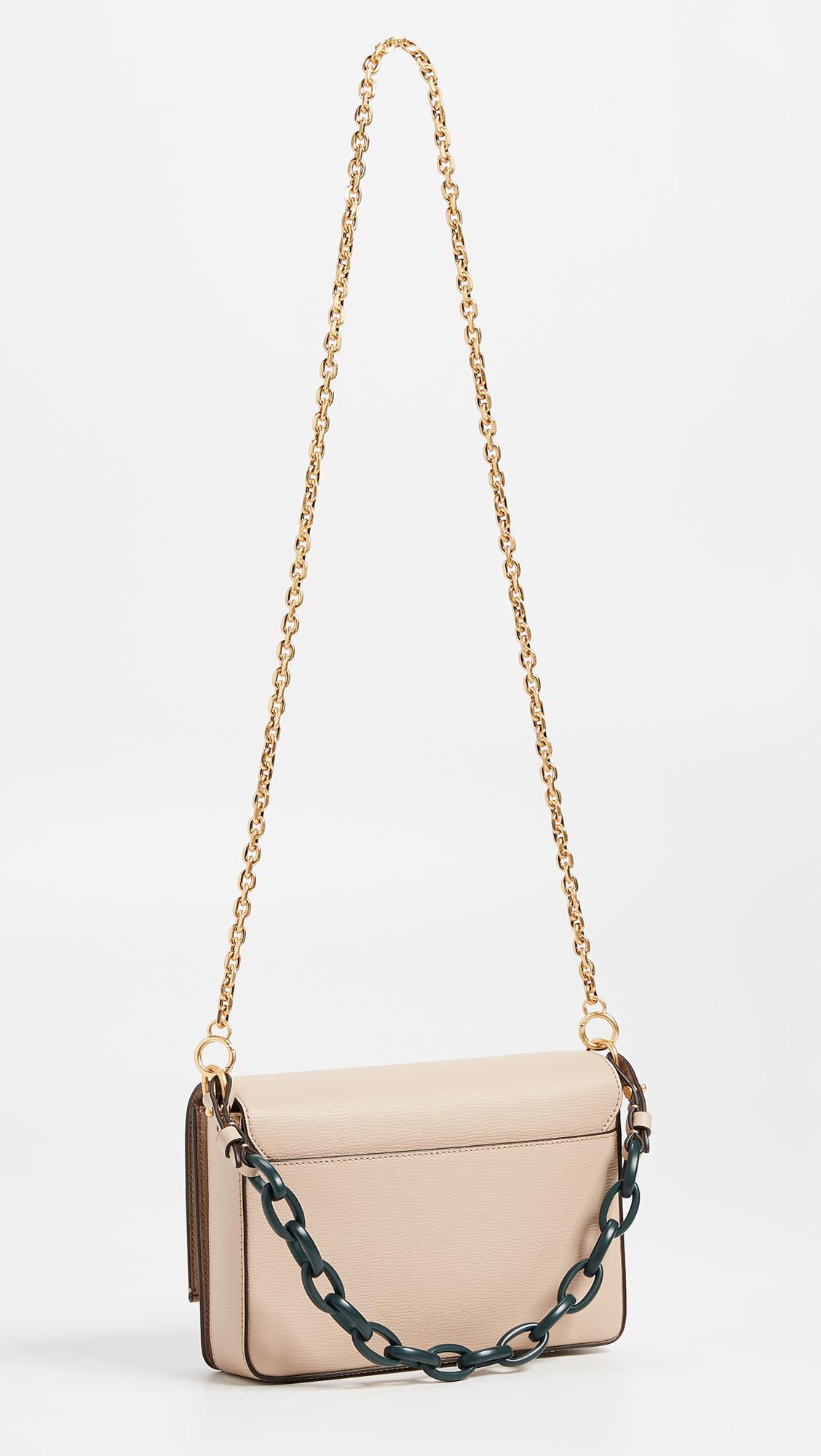 6c7cb458f2e50e Lyst - Tory Burch Kira Double Strap Shoulder Bag in Natural