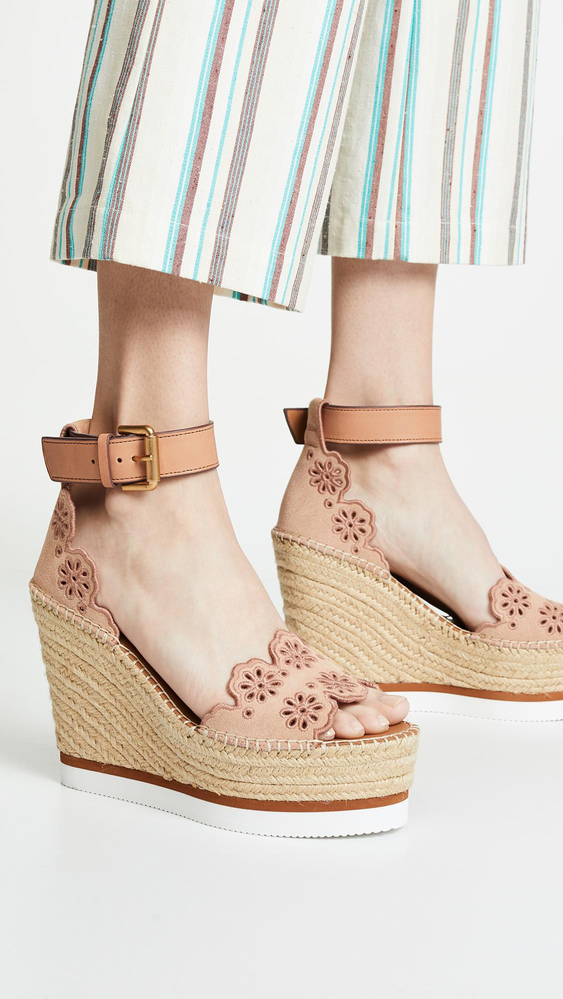 ec397be03b7f See By Chloé - Multicolor Glyn Wedge Espadrilles - Lyst. View fullscreen