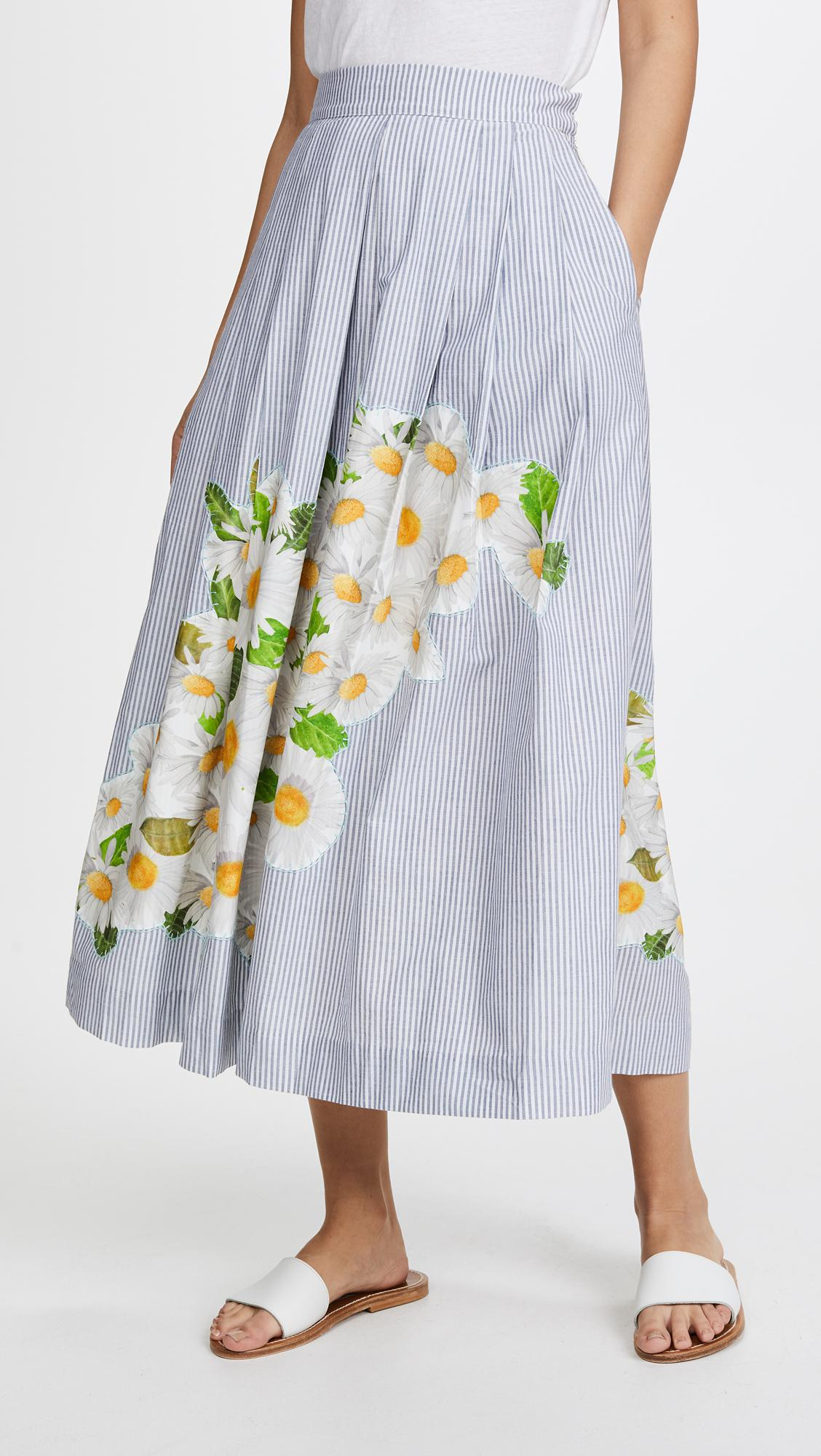 Blue Isolda Embroidered Lyst Rio In Skirt VLSGzpqMU