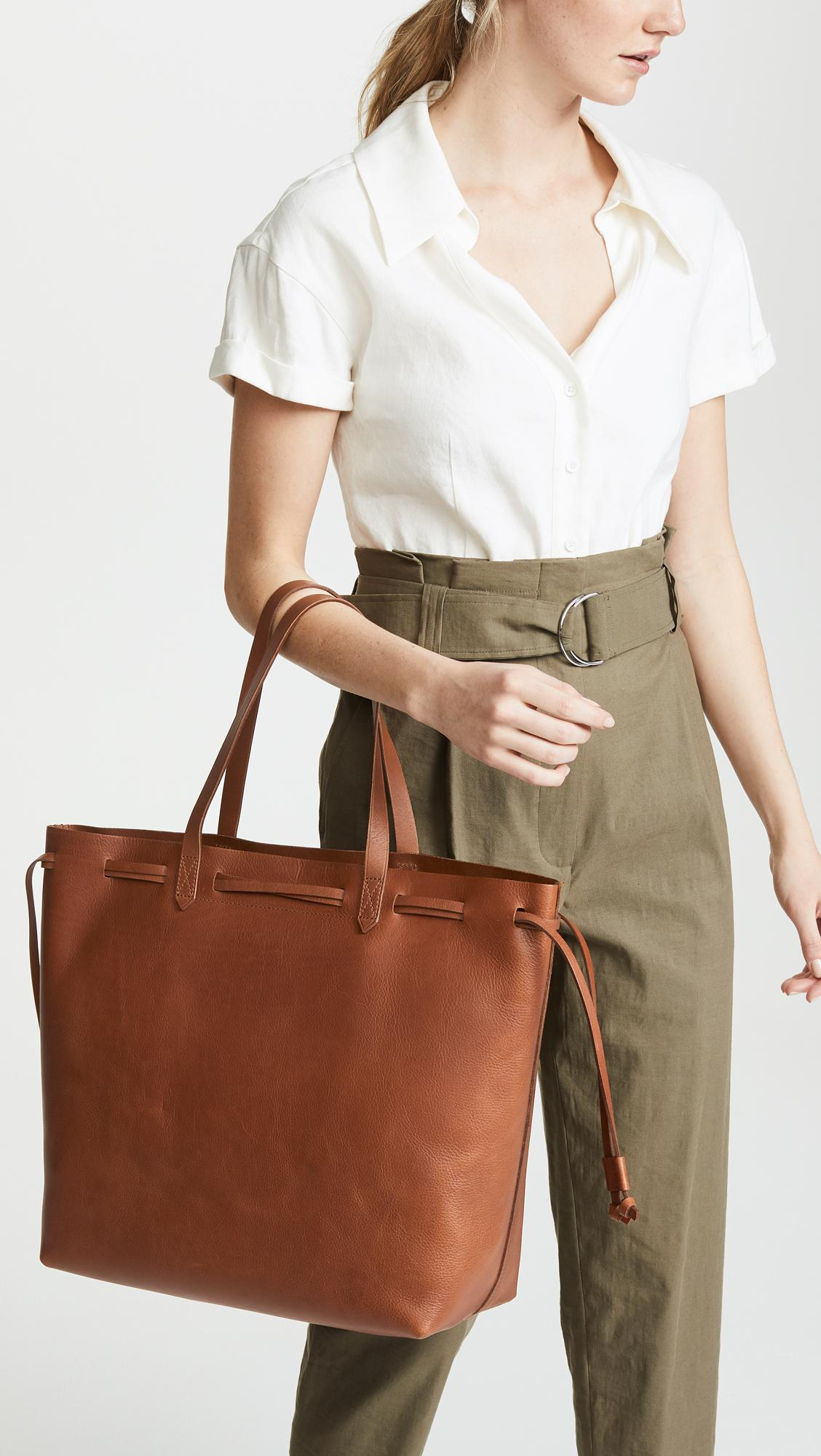9a2059d7a7ad Madewell - Brown Drawstring Transport Tote - Lyst. View fullscreen
