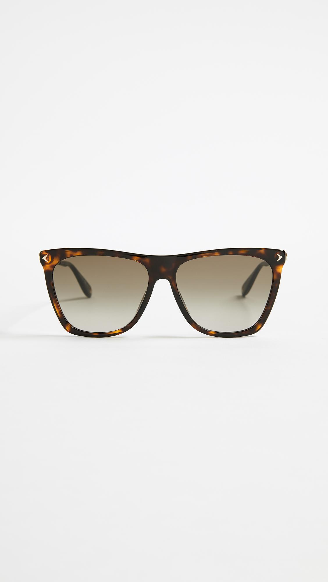 c7144ebede0 Lyst - Givenchy Square Gradient Sunglasses in Brown
